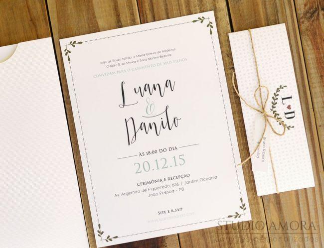 30 tipos de convites de casamento 2016. Anote essas dicas e convide com estilo! Image: 24