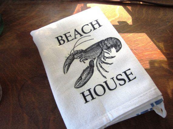 Kitchen towel vintage inspired beach house by 112FarmhouseLayne, $9.00