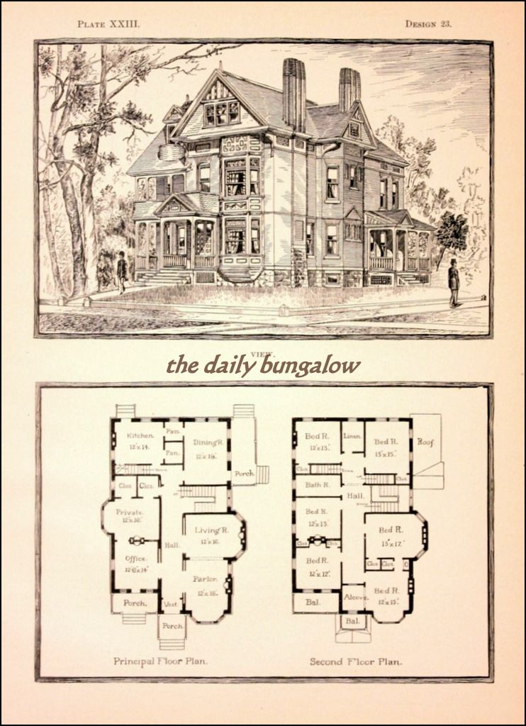 Modern Cottages J H Kirby Architect Victorian House Plans Vintage House Plans House Plans