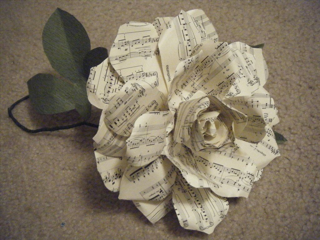 Musical Note Paper Flower Pinterest Note Paper And Craft