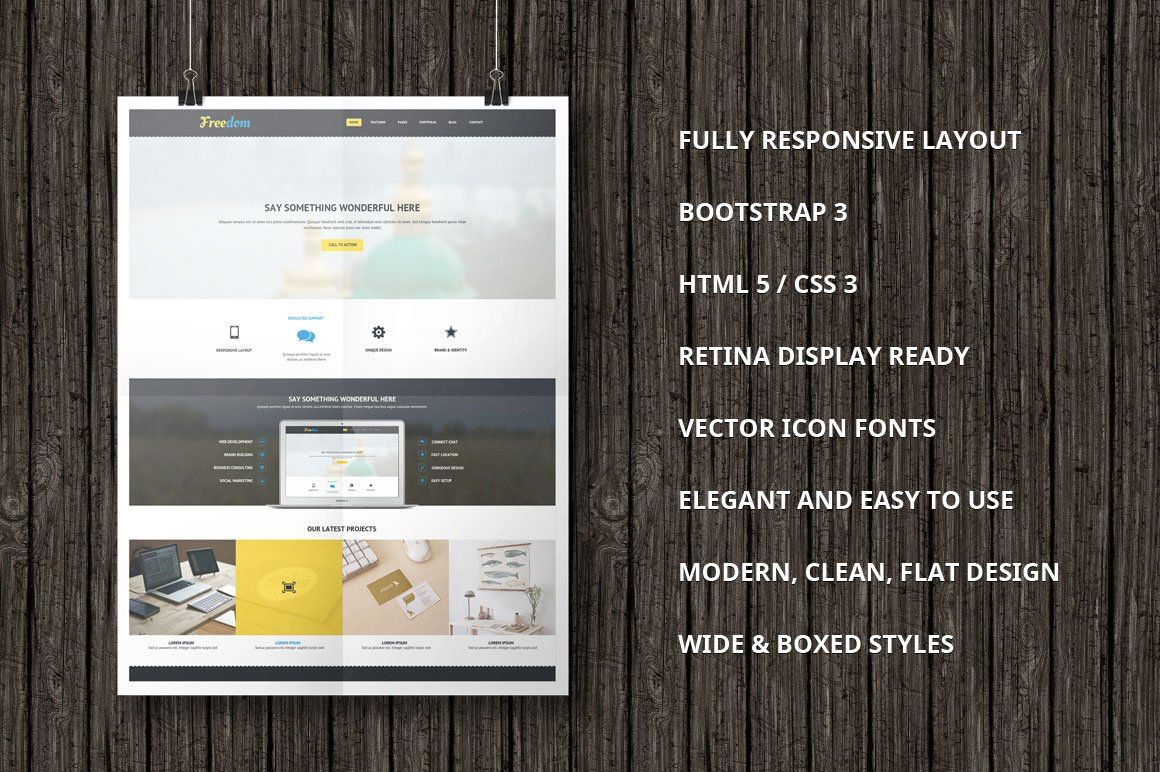 freedom bootstrap template  bootstrap template templates