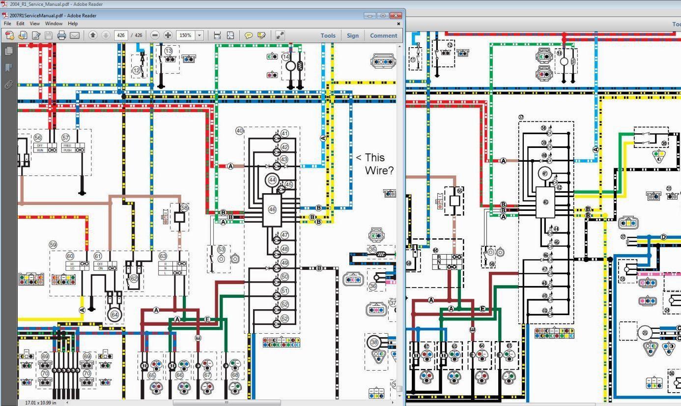 1999 yamaha r6 wiring diagram | diagram, wire, yamaha  pinterest