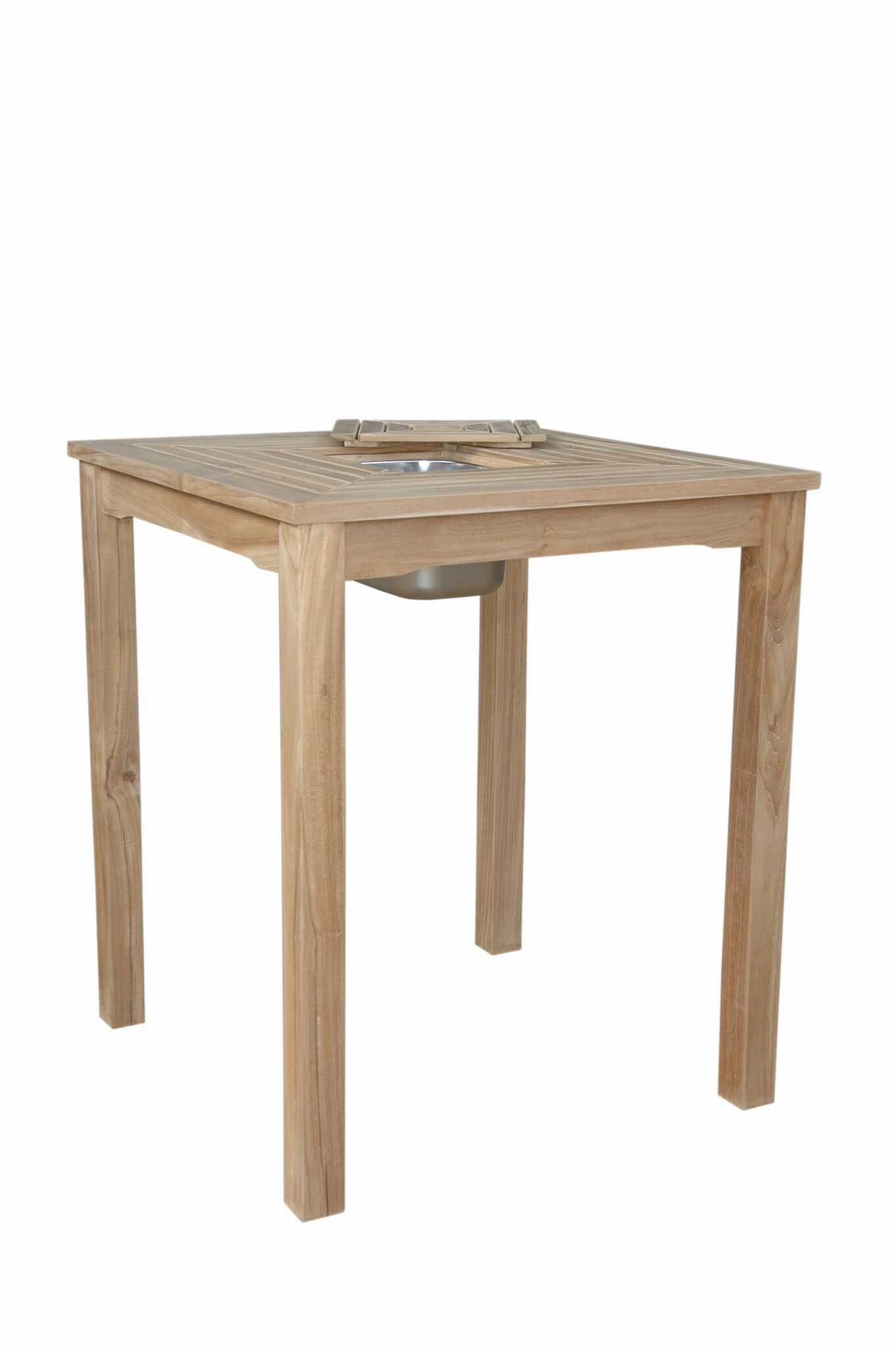 Anderson teak chatsworth ice chiller bar table tb 3636bt