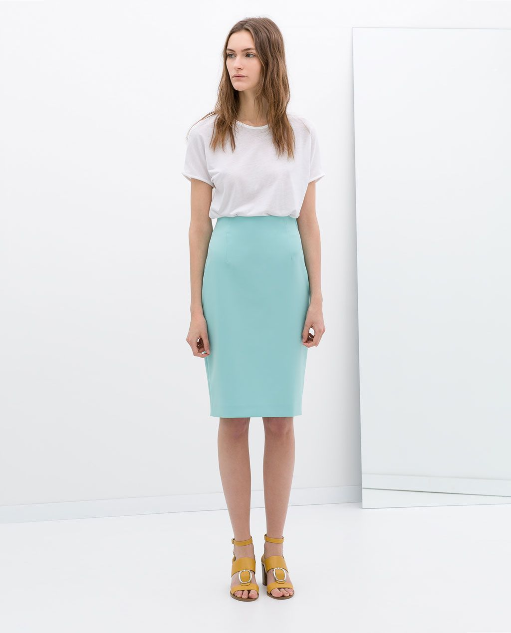 Image 1 of MIDI PENCIL SKIRT from Zara; $60 | Style. | Pinterest ...
