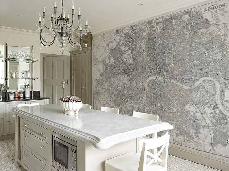 Decoracion de Cocinas con Mapas del Mundo | Mapas del mundo ...