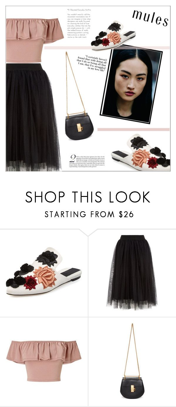 """""""Untitled #389"""" by katu11 ❤ liked on Polyvore featuring Sanayi 313, Miss Selfridge, Chloé and mules"""