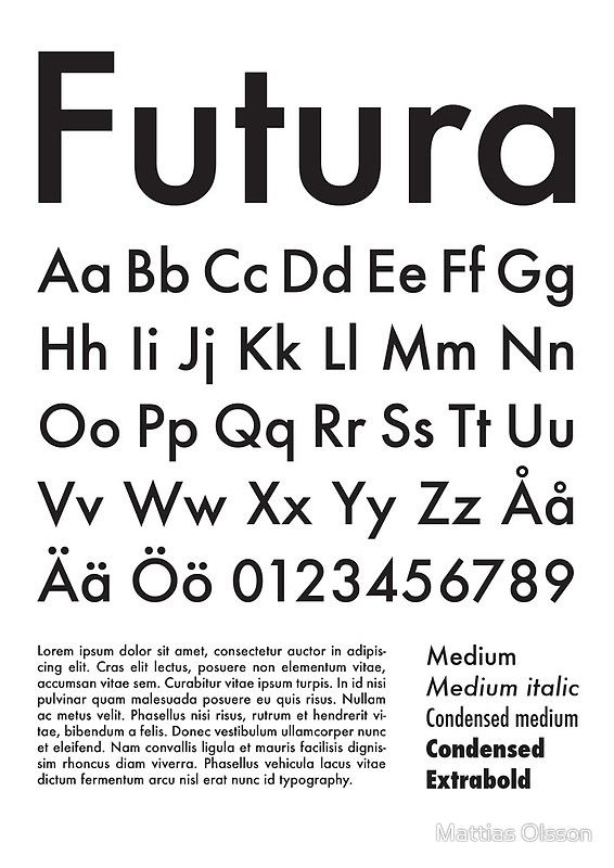 Typography Poster Futura Alphabet | Poster | Type Fonts