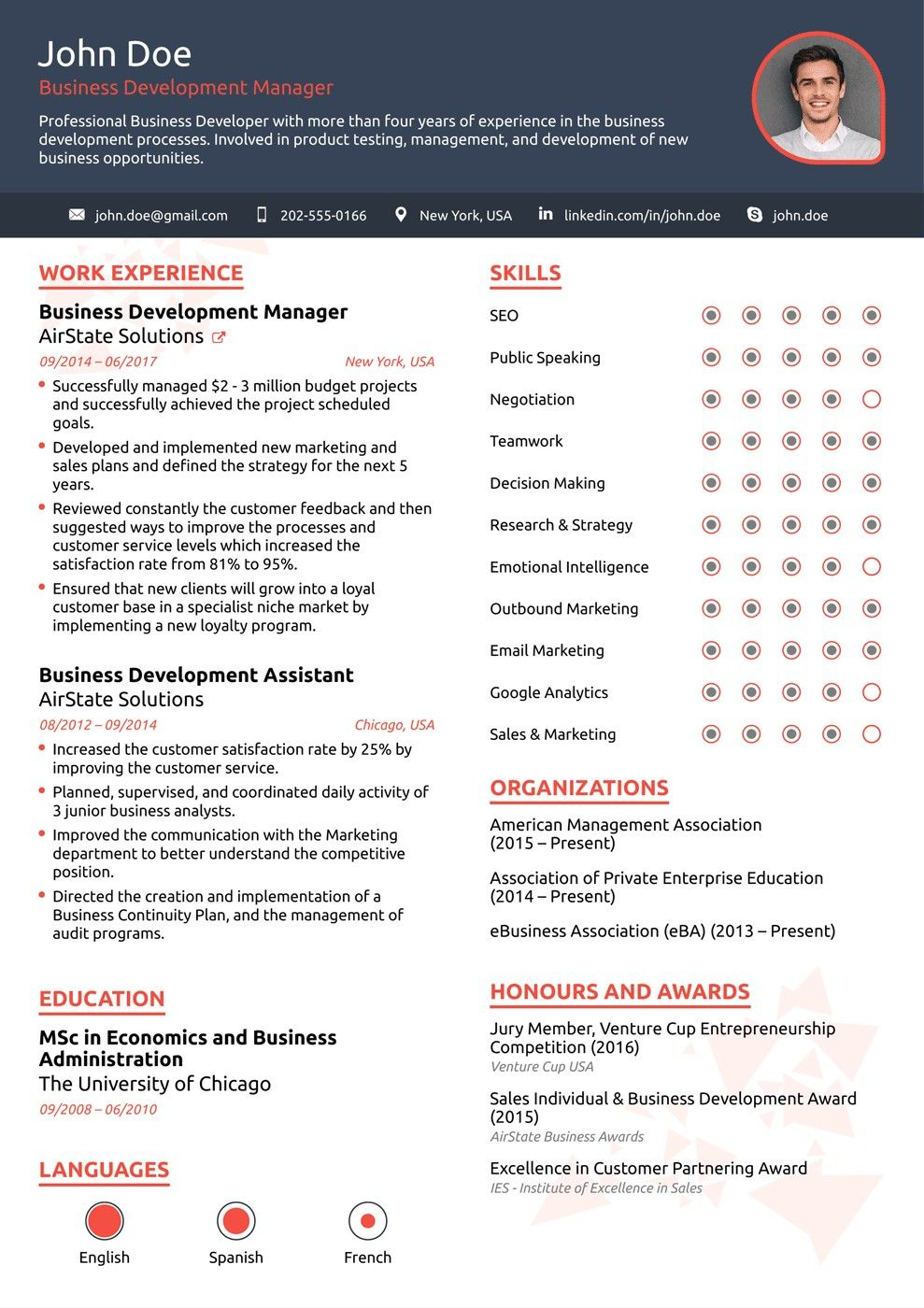 1 Page Resume Inspiration 1 Page Resume Templates 2018 Professional Resume Templates As They .