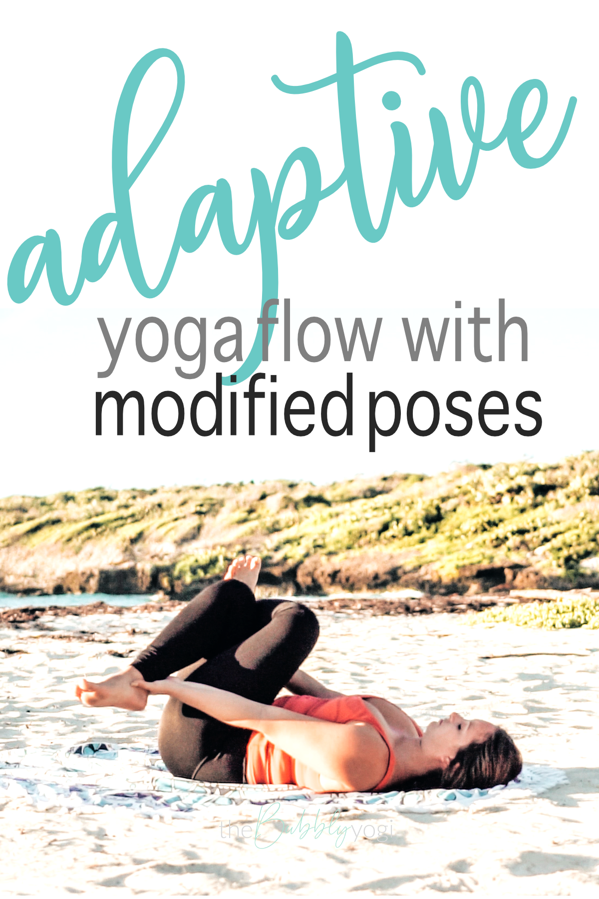 This seated and adaptive yoga flow has modified yoga poses