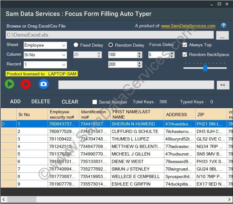 online data entry form filling software