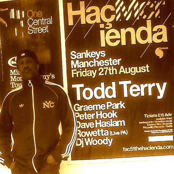 Todd Terry at the Hacienda, Sankeys Manchester with Graeme Park and Peter Hook