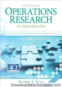 Solution manual for introduction operations research 9e hamdy a solution manual for introduction operations research 9e hamdy ataha download answer key fandeluxe Image collections