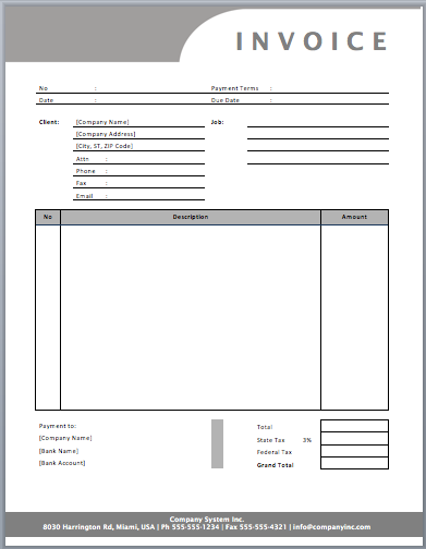 Freelance Invoice Template General Service  Templates
