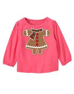 Button Ric Rac Gingerbread Girl Tee