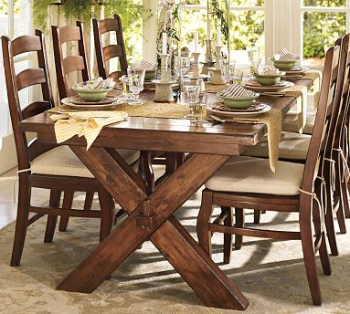 "Toscana Extending Dining Table 885 X 40"" Alfresco Brown Finish Inspiration Dining Room Tables Pottery Barn Decorating Inspiration"