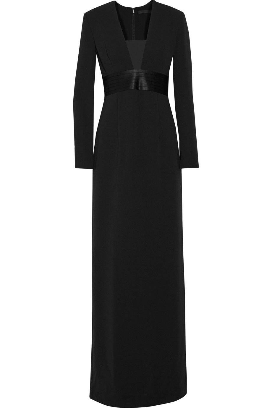 ALEXANDER WANG ORGANZA AND SATIN-PANELED CREPE GOWN $394.20 http://www.