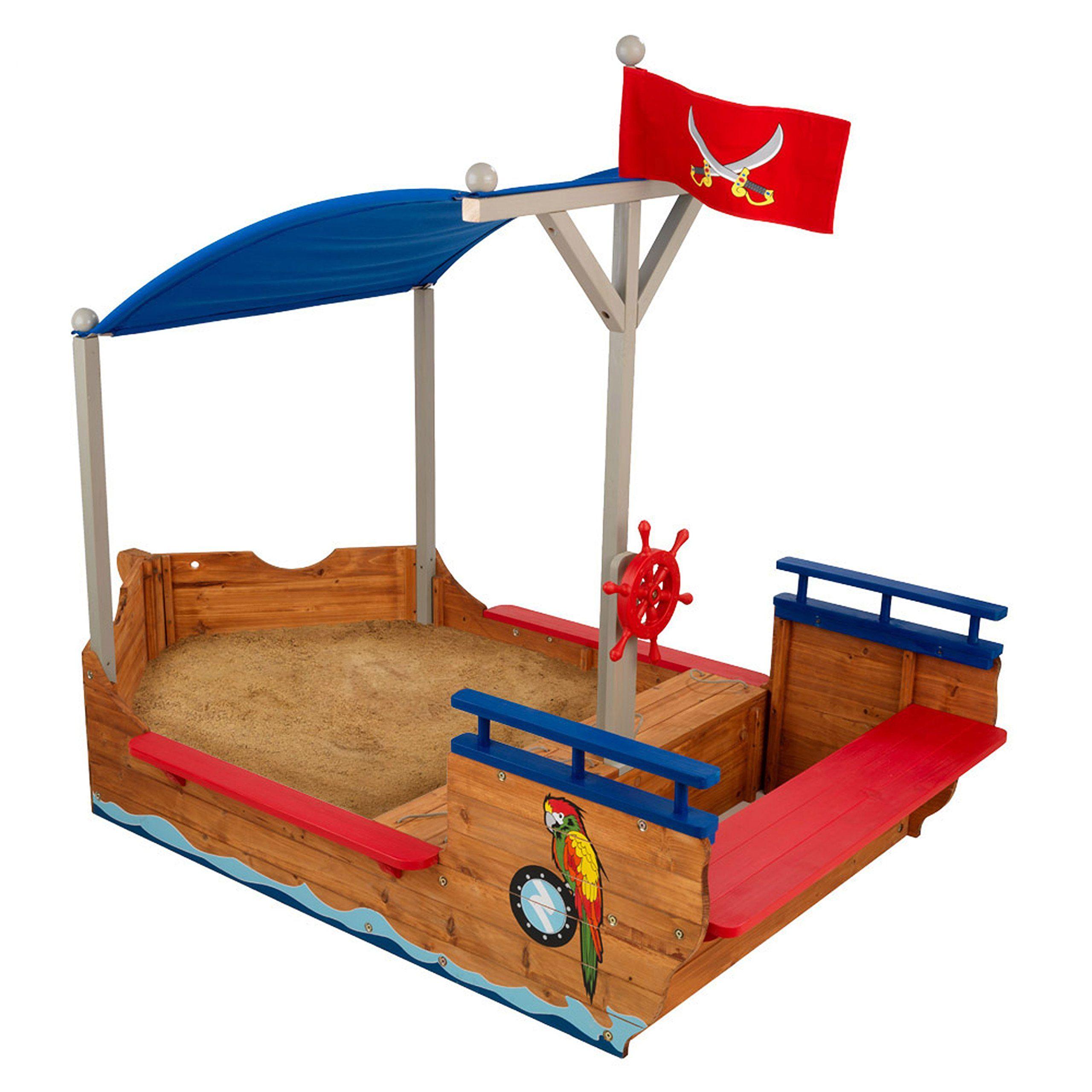 KidKraft Pirate Sandboat (With images) Kids sandbox
