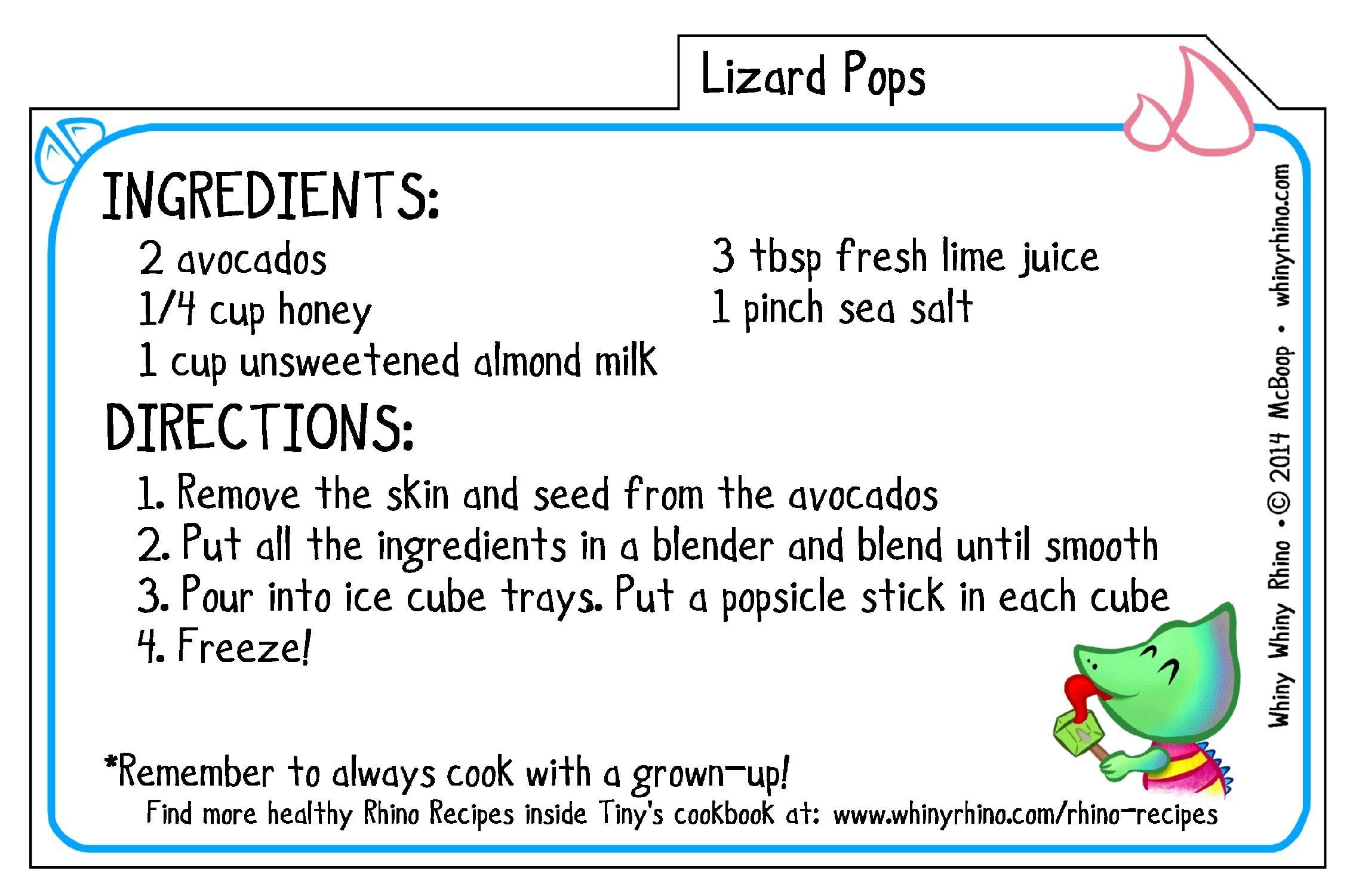 Lizard Pops Recipe Like A Healthy Sweet And Salty