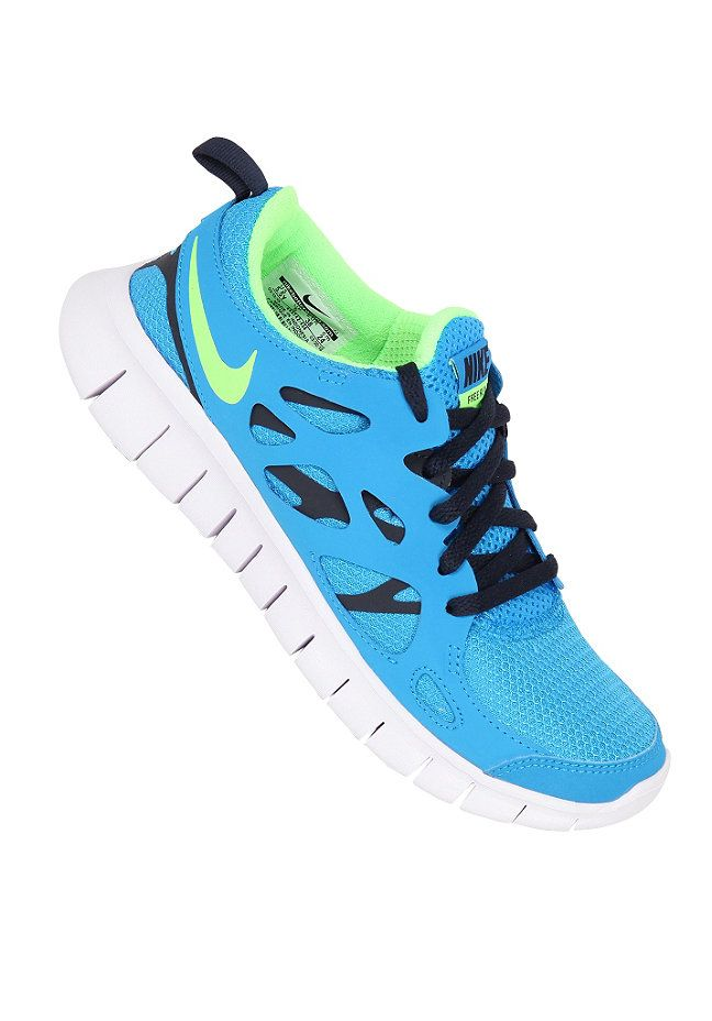 2eb8bdcc0924 NIKE SPORTSWEAR Kids Free Run 2.0 GS blue hero flash lime-obsidian   planetsports