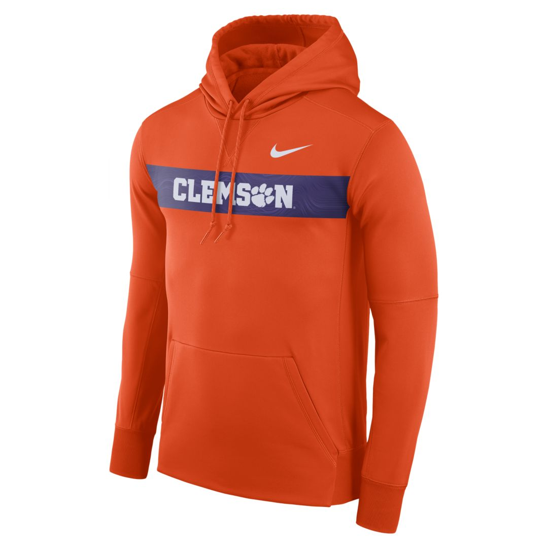 8bbc49edb29b Nike College Dri-FIT Therma (Clemson) Men s Pullover Hoodie Size 2XL  (Orange)