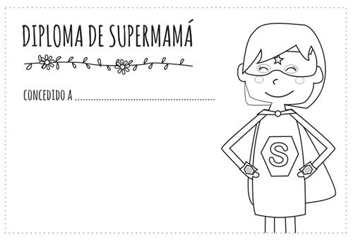Diploma del Día de la Madre para colorear   mom   Pinterest ...