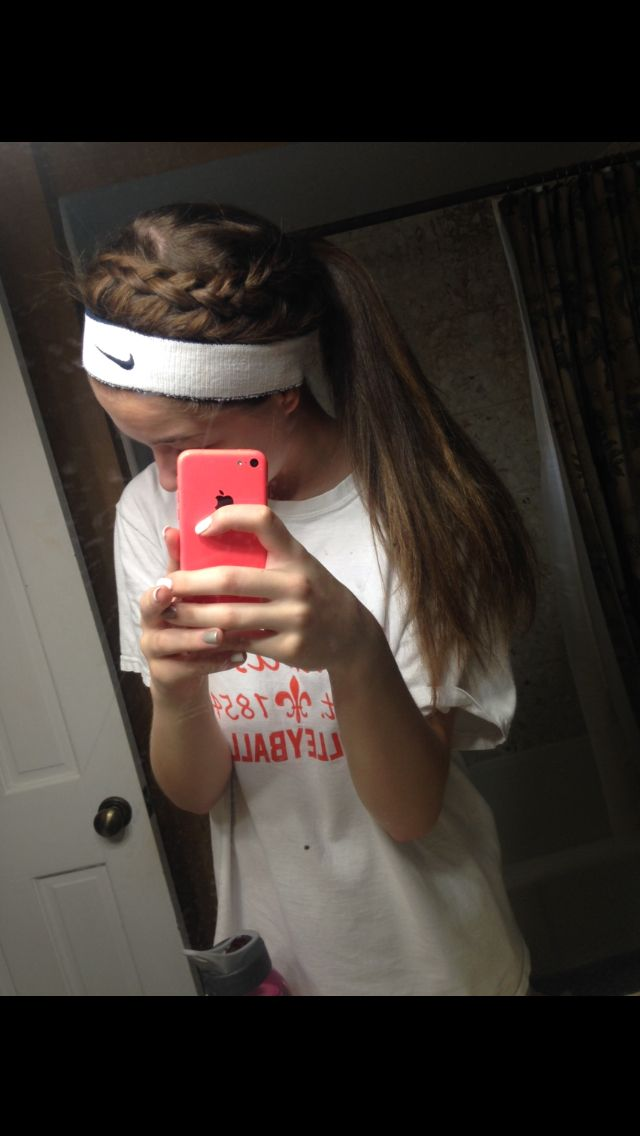 My Hair For Basketball Last Night Sports Hairstyles Sporty Hairstyles Basketball Hairstyles