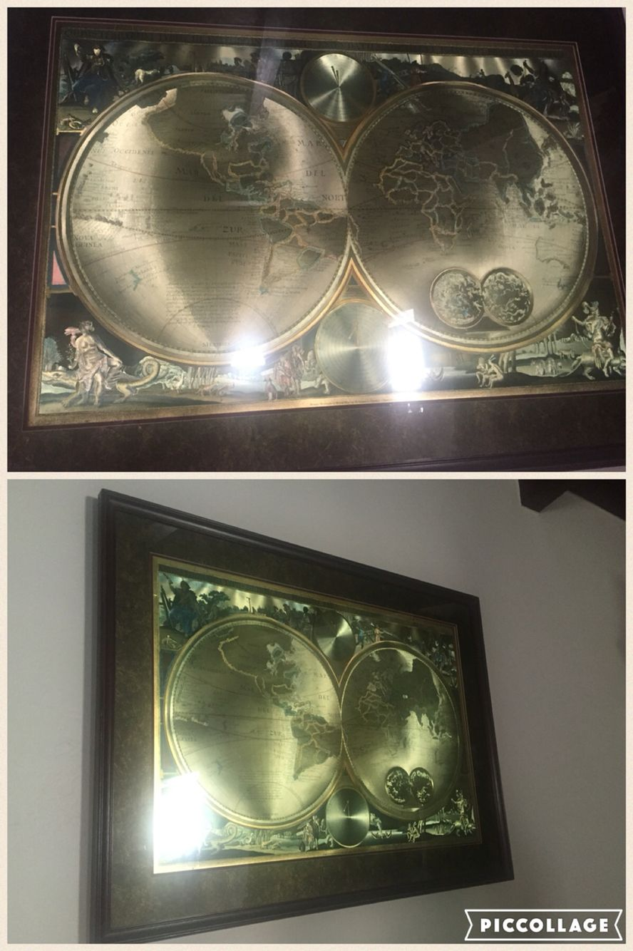 Old world double hemisphere foil map by visscher circa 1660 my old world double hemisphere foil map by visscher circa 1660 gumiabroncs Gallery