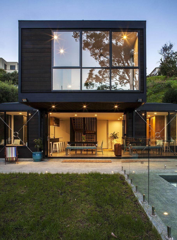 glass box house Modern House