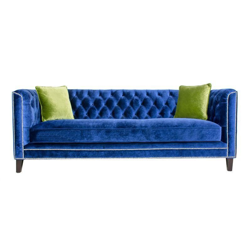 Best Chairish Currentlyobsessed Blue Velvet Sofa Velvet 640 x 480