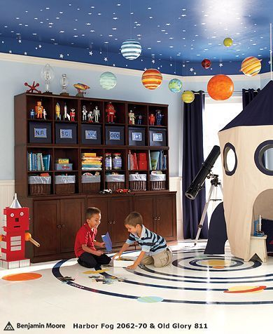 Kids Playrooms: Designing Creative And Fun Rooms For Kids...space Theme. Part 21