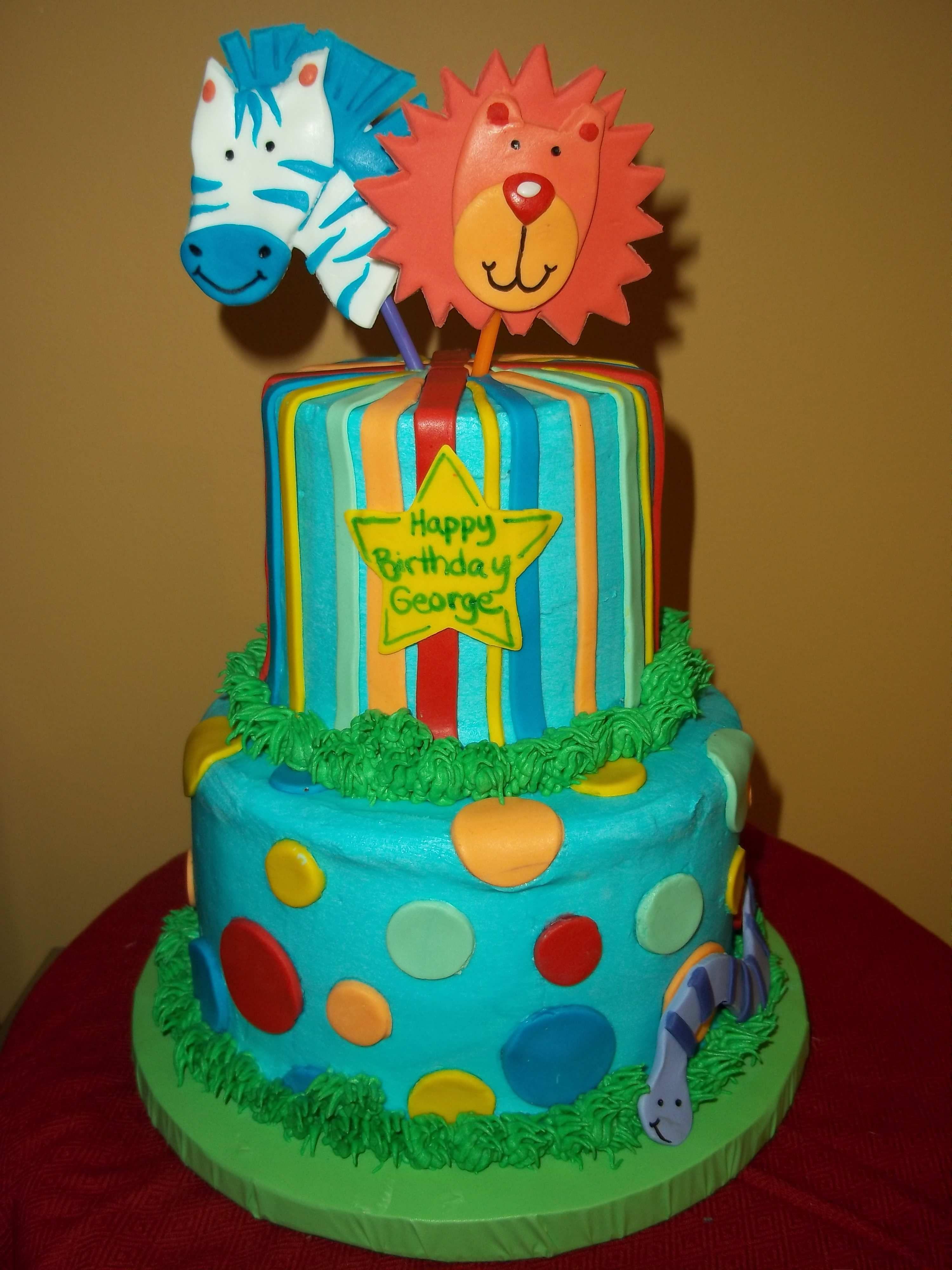 Enjoyable Animal Birthday Cake Birthdaycake With Images Animal Birthday Personalised Birthday Cards Sponlily Jamesorg