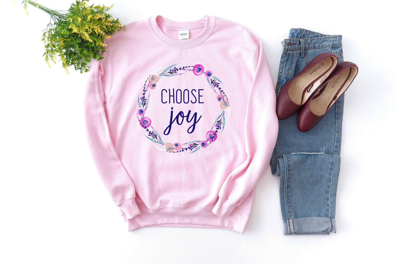 Choose Joy Christian Crewneck Sweatshirt For Women James 1 2 Etsy Crew Neck Sweatshirt Base Shirt Sweatshirts [ 2000 x 3000 Pixel ]