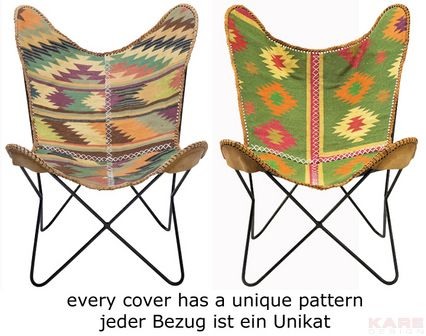 Arm Chair Butterfly Kilim Unique Material: frame: iron, cover: cotton, each piece unique Size: 0,92 x 0,71 x 0,74 m Weight: 5 kg Номер пункта: 76594 !!