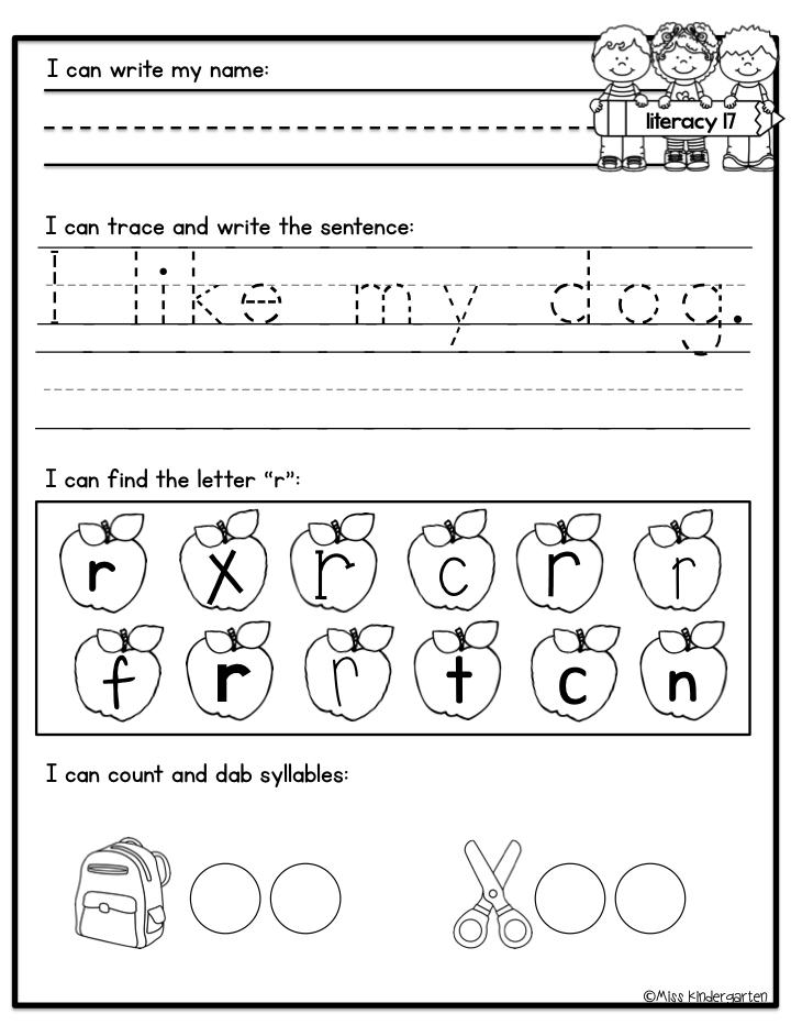 Kindergarten Morning Work – Morning Work Worksheets
