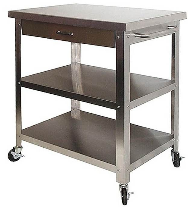 Stainless Steel Rolling Kitchen Cart Of As The Useful Furniture In
