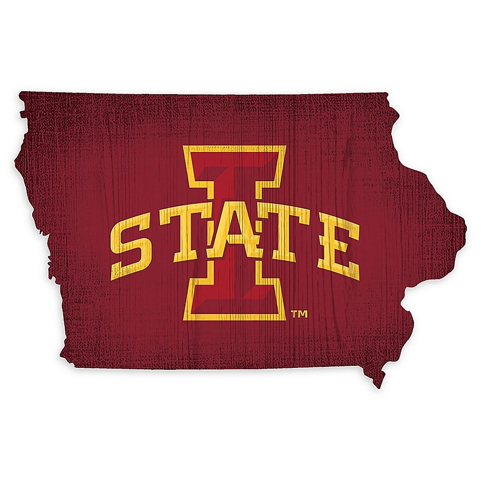 Iowa State University Team Color Logo State Sign Multi