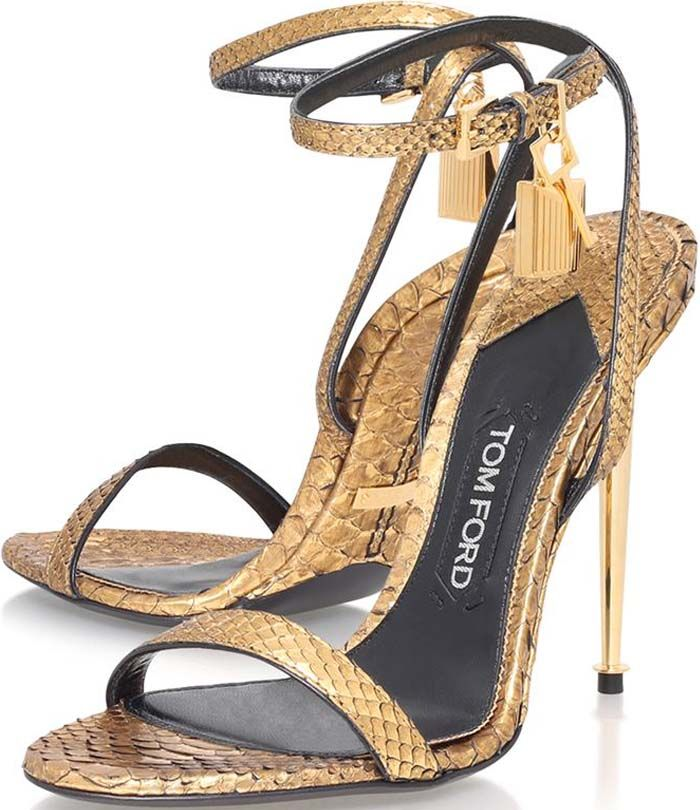 2739aa97fa Tom Ford Lock Gold Python | shoes &show in 2019 | Shoes, Shoe boots ...