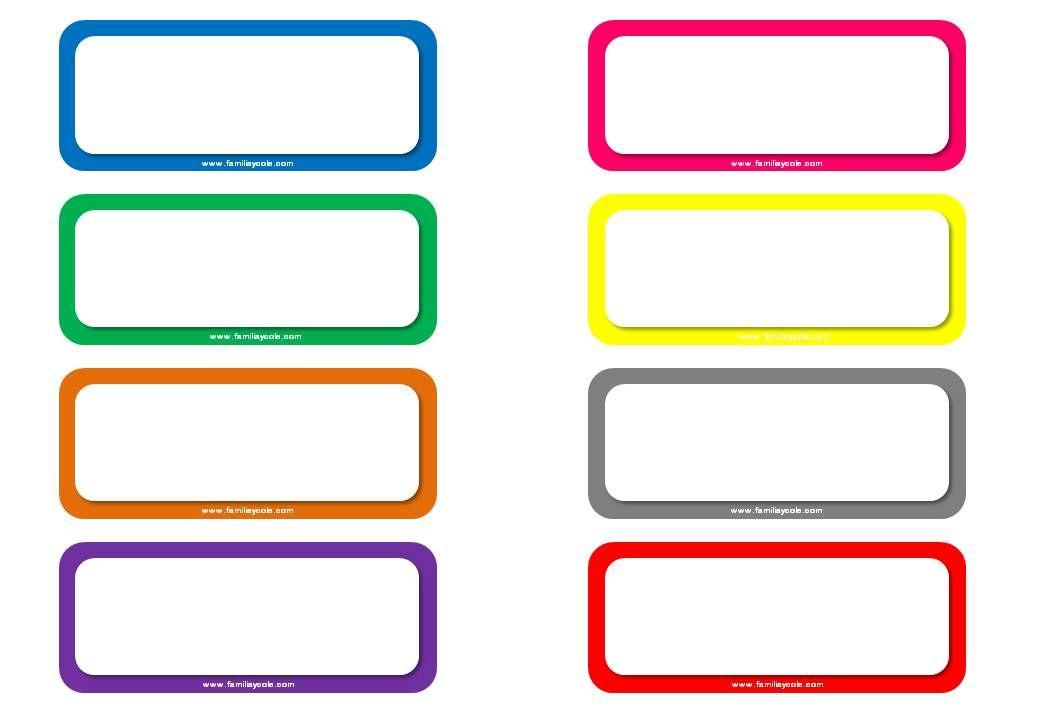 Diferentes modelos de etiquetas escolares para descargar gratis ...