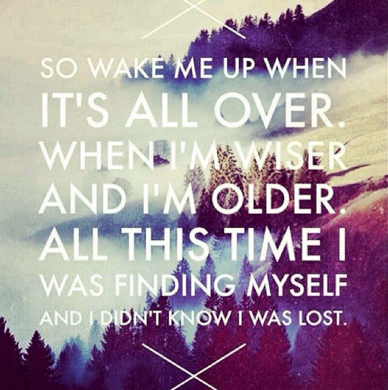 Wake Me Up Lyrics Quote Songteksten Teksten Wijze Woorden
