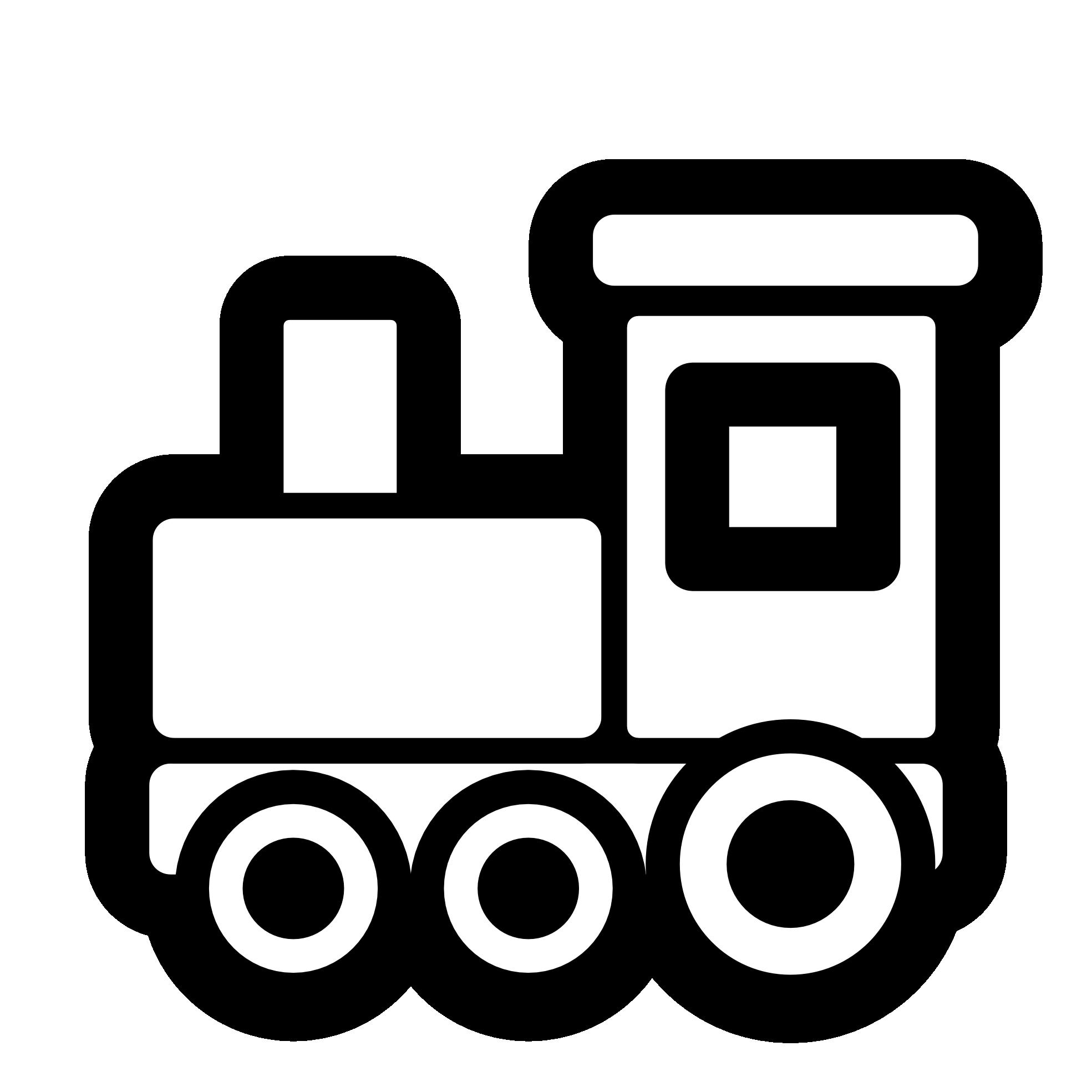 Toy Train Icon Black White Line Art Scalable Vector Graphics Svg Inkscape Adobe Illustrator Clip Art Cli Train Clipart Trains Preschool Clipart Black And White