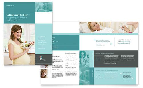 Pregnancy Clinic Brochure Template by @StockLayouts | Medical ...