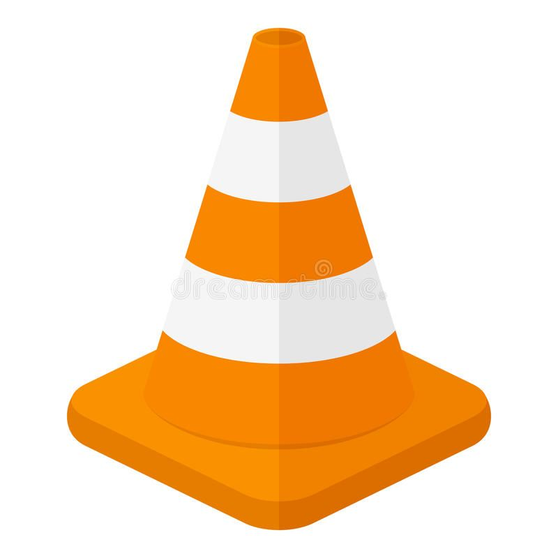 Traffic Cone Flat Icon Isolated On White Orange And White Traffic Cone Flat Ico Aff White Isolated White Orange Con Flat Icon Objects Design Cone