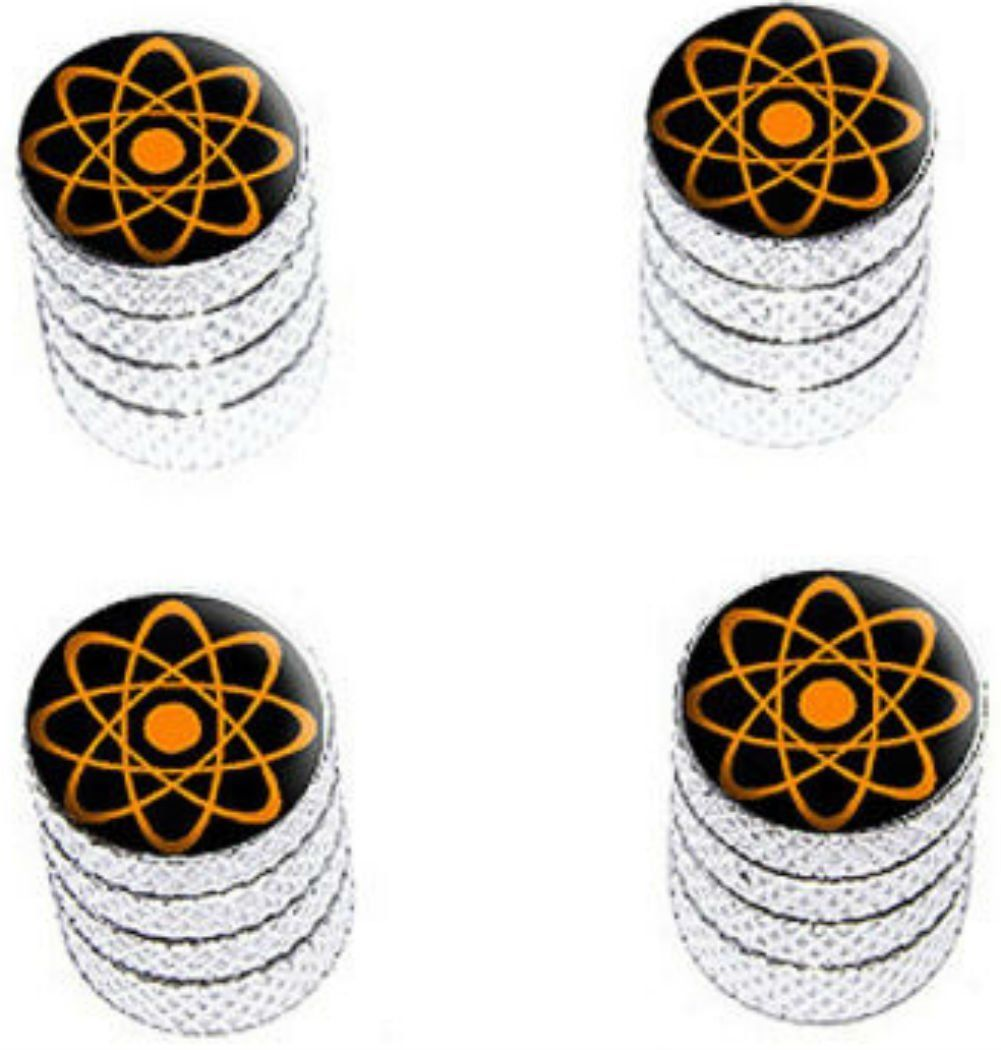 "Amazon.com : (4 Count) Cool and Custom ""Diamond Etching Atomic Symbol Top with Easy Grip Texture"" Tire Wheel Rim Air Valve Stem Dust Cap Seal Made of Genuine Anodized Aluminum Metal {Crisp Toyota Silver and Orange Colors - Hard Metal Internal Threads for Easy Application - Rust Proof - Fits For Most Cars, Trucks, SUV, RV, ATV, UTV, Motorcycle, Bicycles} : Sports & Outdoors"