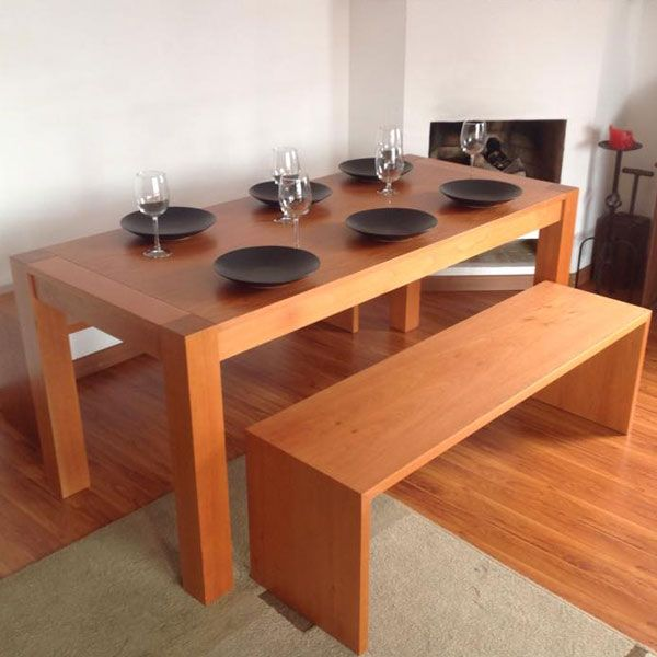 Banca comedor maik en cedro by muebles co image sala comedor pinterest dinner tables - Comedor con banca ...