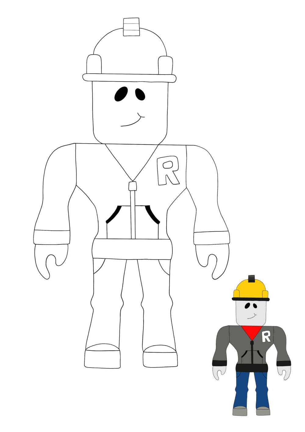 98390af0406de6d30b7c40a00a6f0d20 » Roblox Builderman Coloring Pages