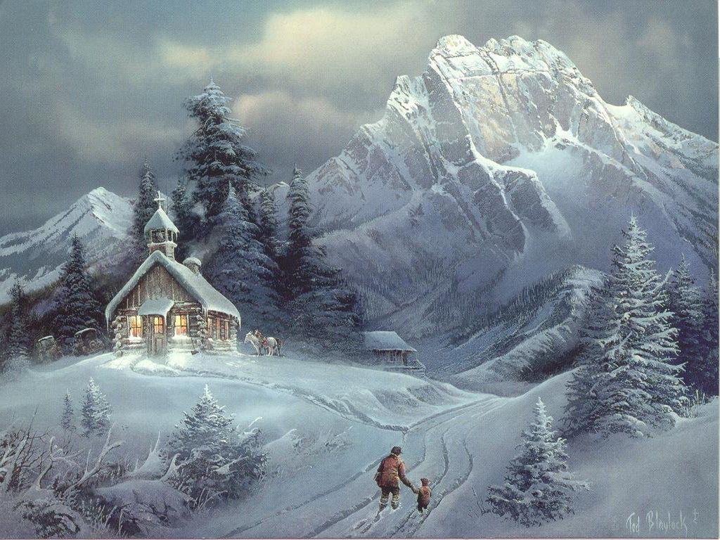 Winter Paintings Wallpaper Winter Snow Wallpaper Winter Wallpaper Christmas Scenery Winter Scenery Winter Scenes