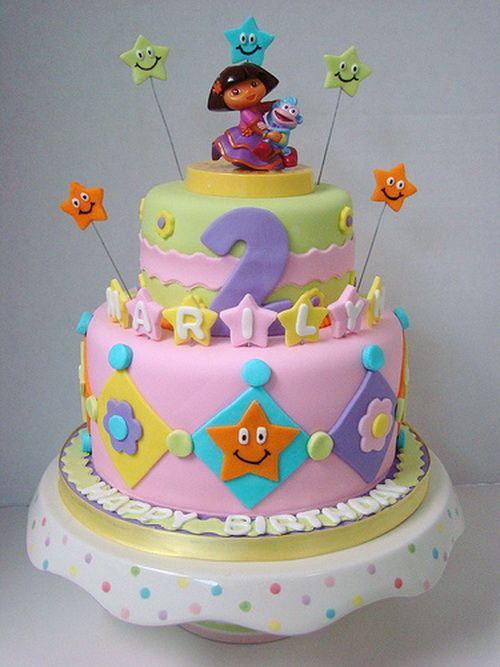 cute dora childrens birthday cake Birthday Cakes Pinterest