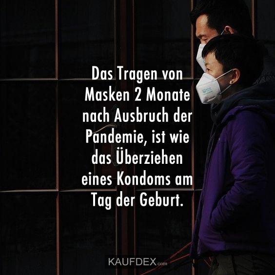 Das Tragen von Masken 2 Monate nach Ausbruch... | Kaufdex ...