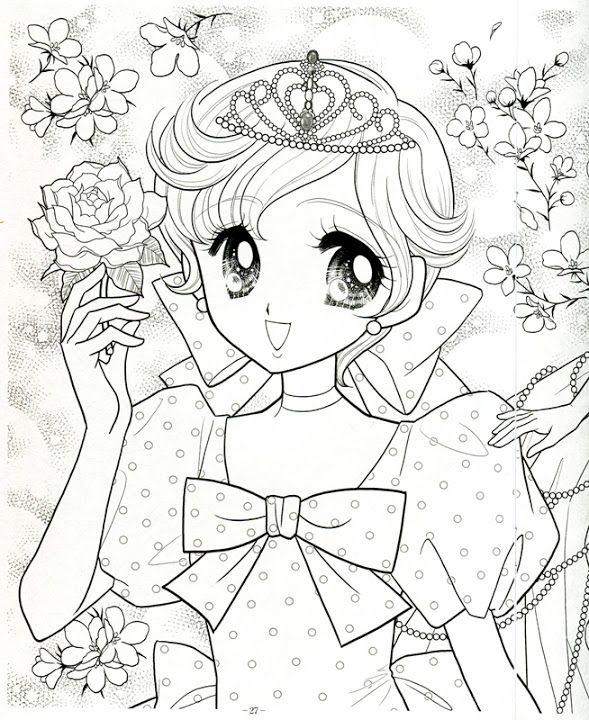 Japanese Shoujo Coloring Book 3 Mama Mia Picasa Web Albums Coloring Books Princess Coloring Cute Coloring Pages