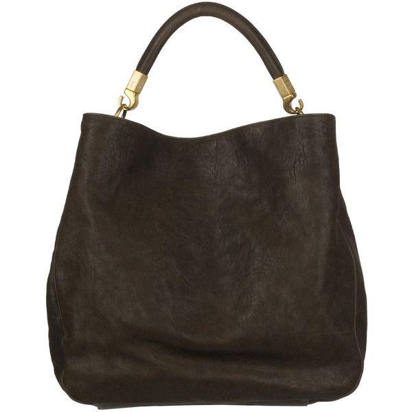 Yves Saint Laurent 'Roady Ranch' Brown Leather Hobo Bag